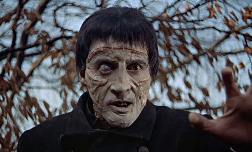 Christopher Lee in The Curse of Frankenstein (1957), © Hammer Film Productions